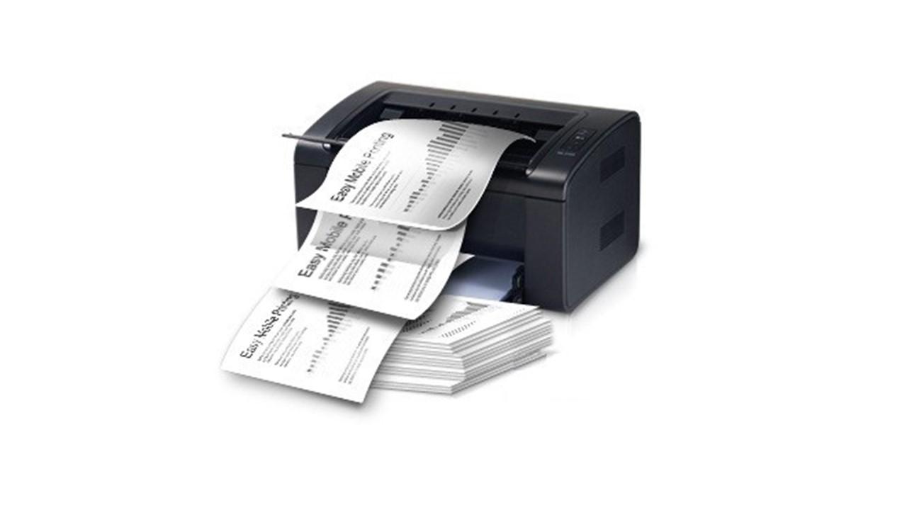 принтер печатает пакетно