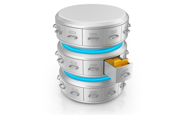 Схематичное изображение базы данных
