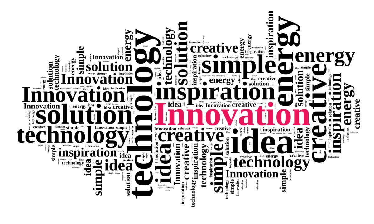 Рисунок из слов, связанных с инноватикой