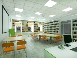 Проект реконструкции читального зала Меленковской детской библиотеки