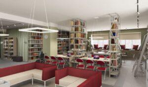 Проект читального зала Александровской библиотеки семейного чтения