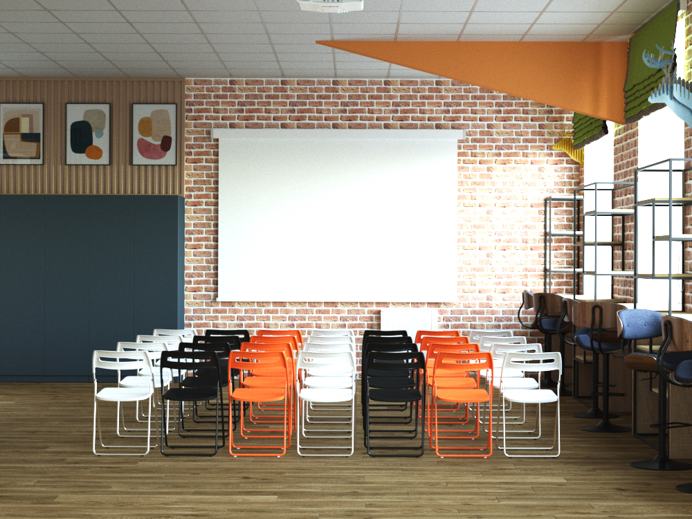 Дизайн зала Красноэховской библиотеки