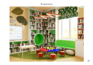 Дизайн помещений Ковардицкой сельской библиотеки